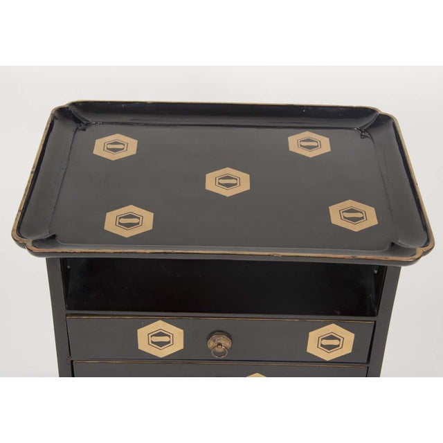 Wood Japanese Lacquer Cosmetics Cabinet For Sale - Image 7 of 13