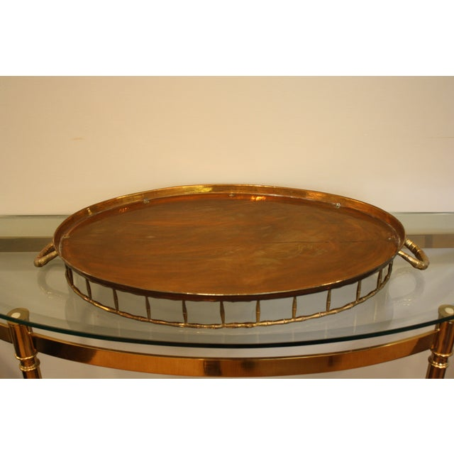 Vintage Faux Bamboo Tray - Image 6 of 8