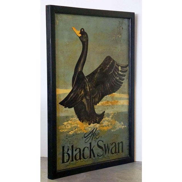 """English Vintage English Pub Sign, """"The Black Swan"""" For Sale - Image 3 of 13"""
