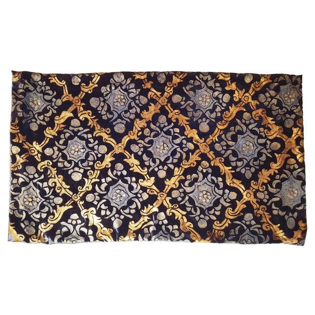 Illustration Shah Jhahan Silk Velvet Pillow Cover For Sale - Image 3 of 3