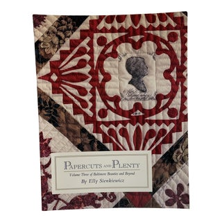 1990s Papercuts and Plenty Classic Quilt Applique Book For Sale