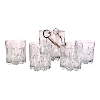 1970s Vintage Italian Crystal Barware - Set of 5 For Sale
