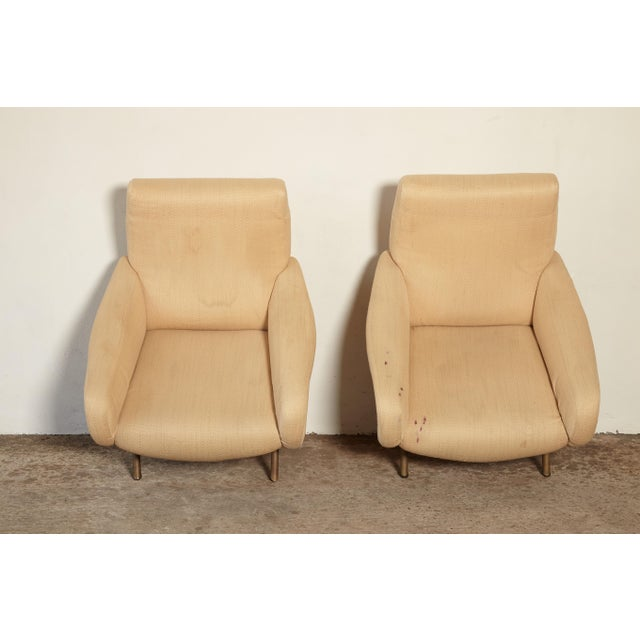 Original Marco Zanuso Lady Chairs, Arflex, Italy, 1960s for Reupholstery For Sale - Image 6 of 10