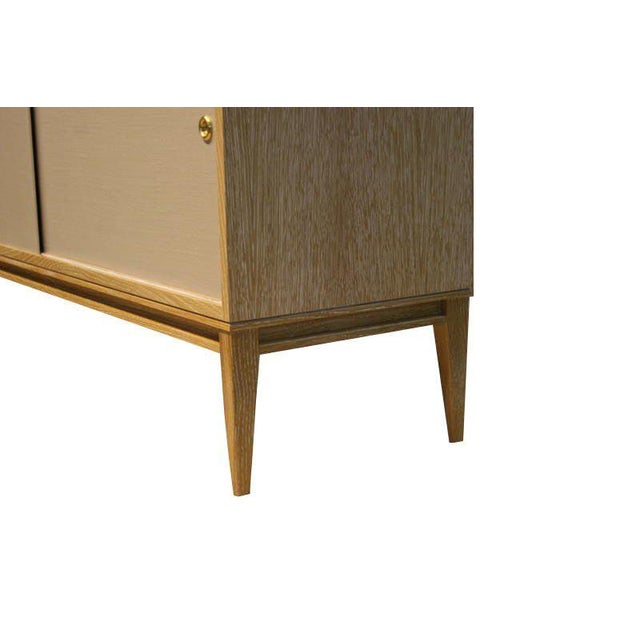 Modern Customizable Bishop Lacquered Linen Door Console For Sale - Image 3 of 10