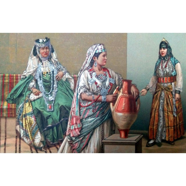 1888 Algerian Tent & Arab Nomad Lithograph For Sale - Image 5 of 6