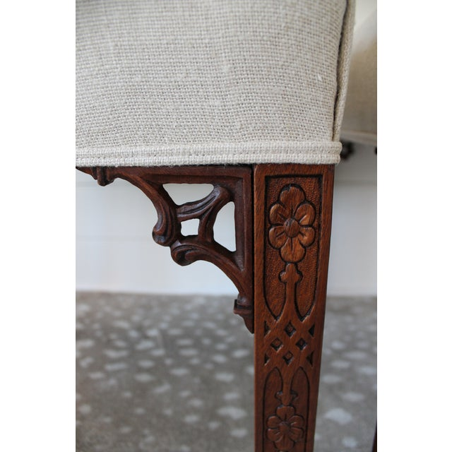 Mahogany Chinese Chippendale Hall Chairs - A Pair For Sale - Image 9 of 10