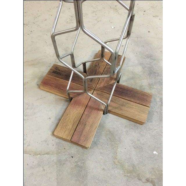 Boho Chic Freestanding Wine Rack by Derek Chen For Sale - Image 3 of 4