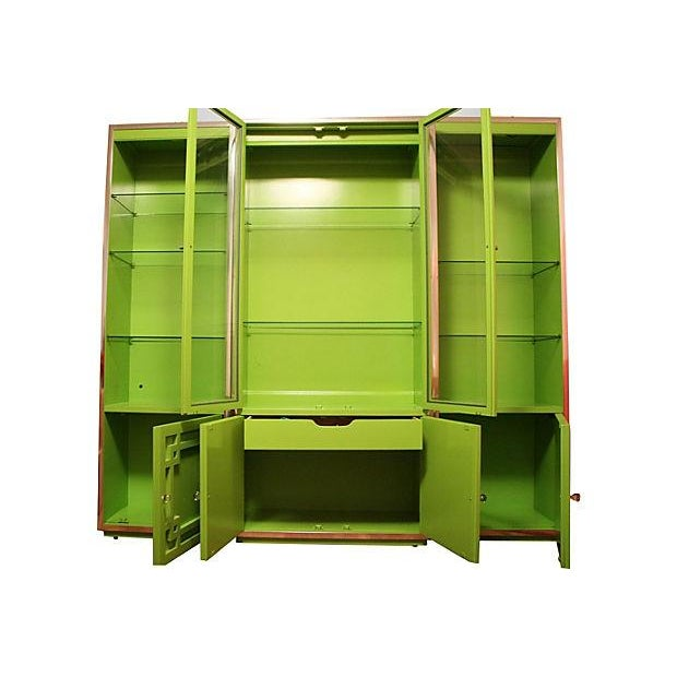 Green Thomasville Fretwork Cabinets - Set of 3 - Image 2 of 7