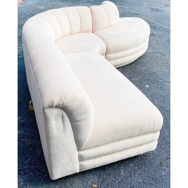 Contemporary Contemporary Boucle Stacked Sectional Sofa - Set of 3 For Sale - Image 3 of 4