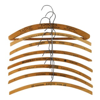 Vintage Wooden Hangers - Set of 8 For Sale