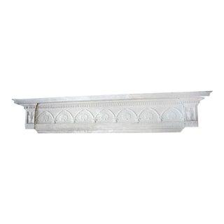 Antique Ornately Carved Wooden Pediment For Sale