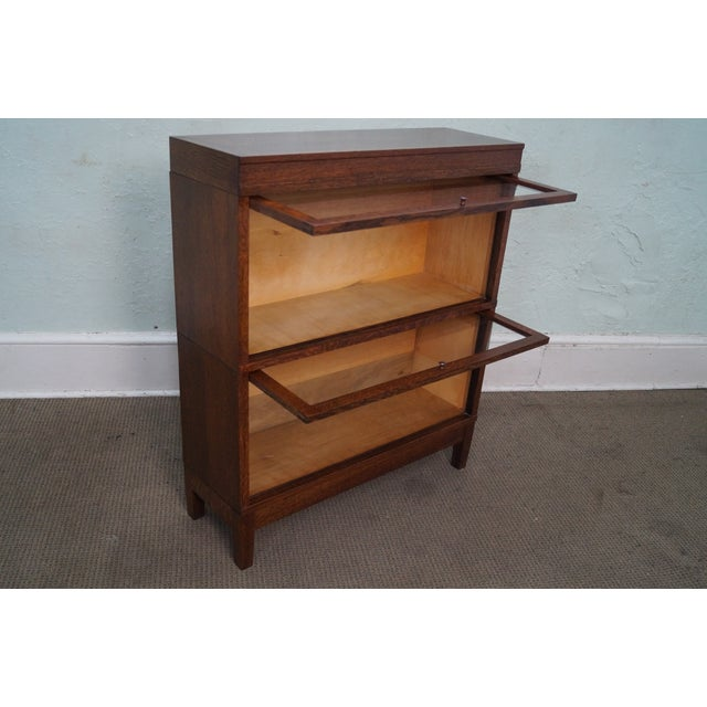 Globe Wernicke Antique Oak Two Section Bookcase - Image 4 of 10