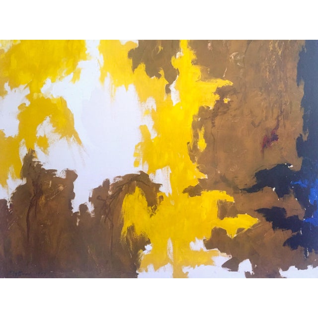 """2010s Clyfford Still Abstract Expressionst Offset Lithograph Print Museum Poster """" Ph - 321 """" 1948 For Sale - Image 5 of 13"""