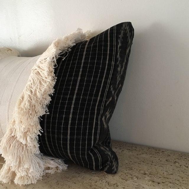 Vintage Sumba Ikat Fringe Pillow - Image 3 of 9