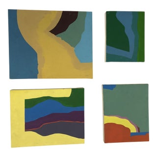 Abstract Paintings by Bob McGill (American) 1969 Oil on Canvas - Set of 4 For Sale