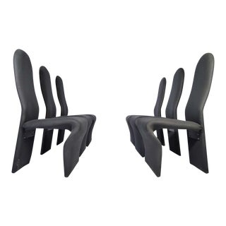 6-Jan Ekselius Style Hollywood Regency High Back Dining Chairs For Sale