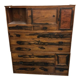 Japanese Rustic Tansu Cabinet For Sale