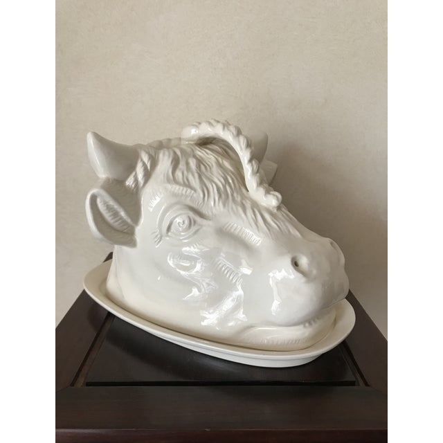 Staffordshire English Staffordshire Cows Head Cheese Dish For Sale - Image 4 of 9