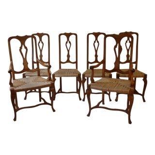 Vintage Mid-Century Cherrywood Dining Chairs - Set of 6 For Sale