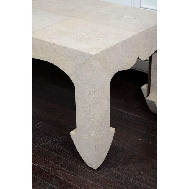 Genuine Shagreen Cocktail Table For Sale - Image 9 of 10