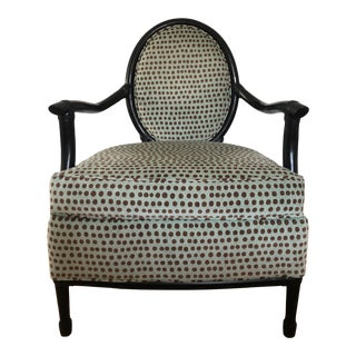 Palecek Upholstered Arm Chair For Sale