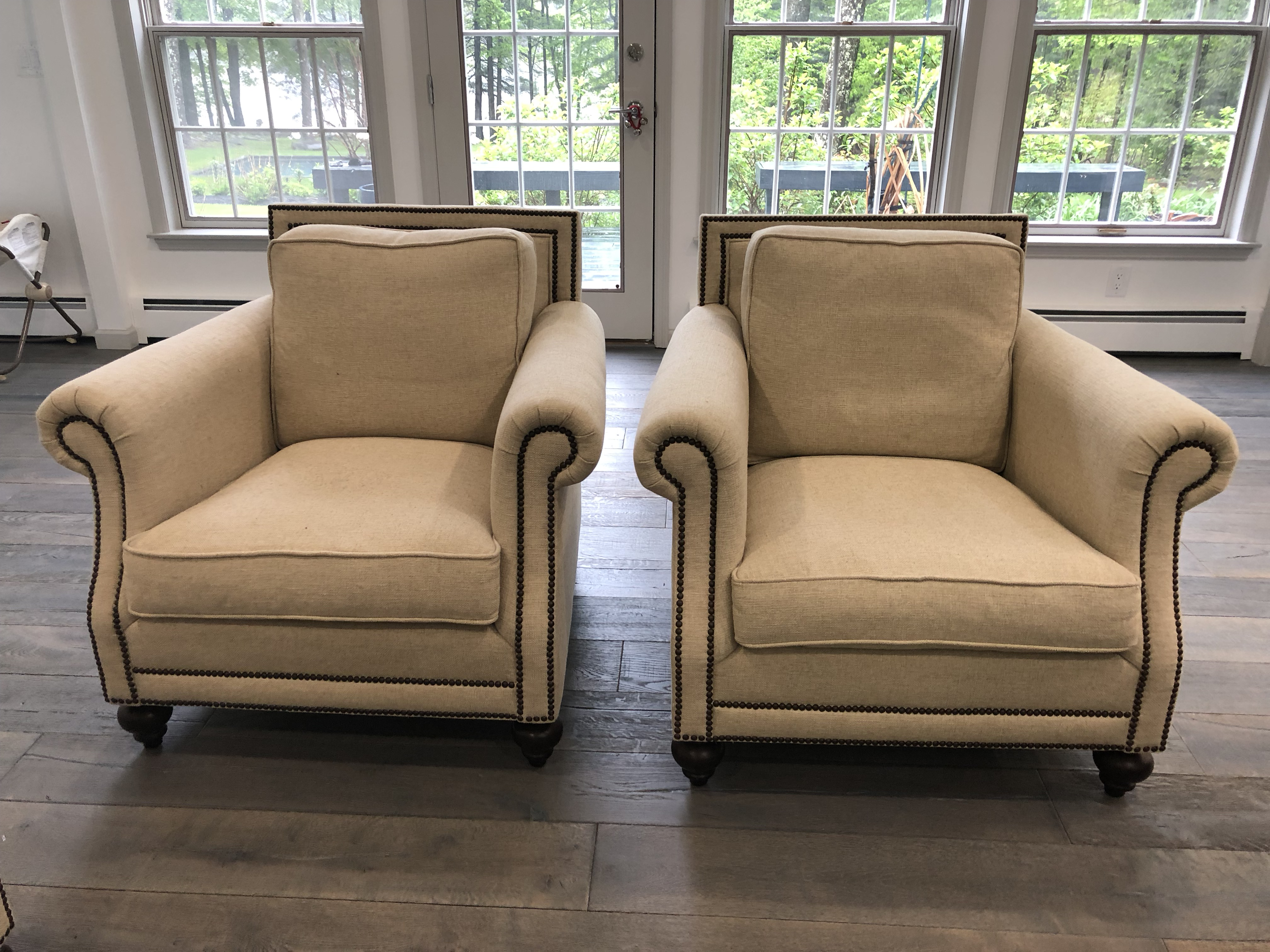 Traditional Safavieh Brae Bernhardt Sofa And Armchairs   3 Pc. Set For Sale    Image