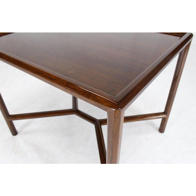 Dunbar Walnut Side Table For Sale In New York - Image 6 of 7