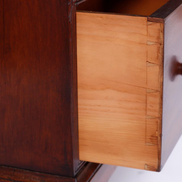 Chocolate English Step Down Bookcase For Sale - Image 8 of 10