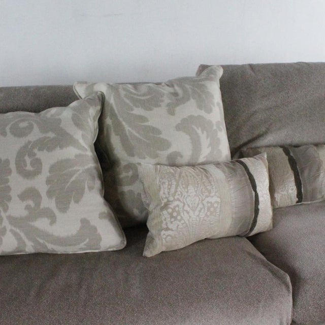 Gray Minotti Mid Century Modern Style Italian Upholstered Sectional Sofa For Sale - Image 8 of 13