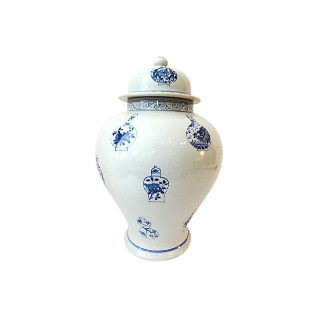 LG Hand-Painted Blue & White Ginger Jar - Image 6 of 7