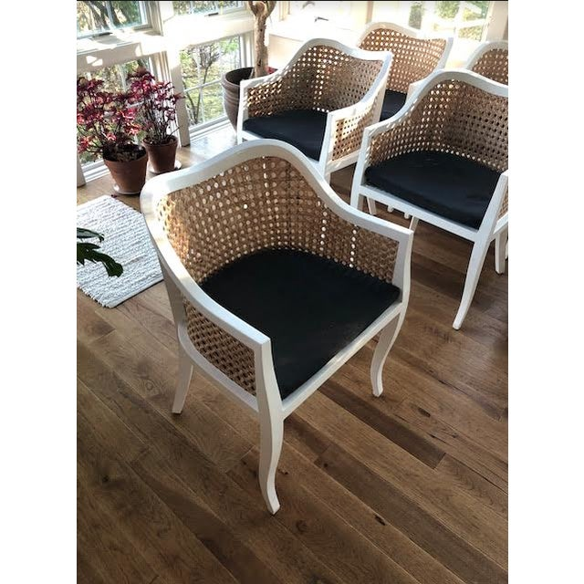 Cottage CB2 Tayabas Cane Side Chairs - Set of 6 For Sale - Image 3 of 5