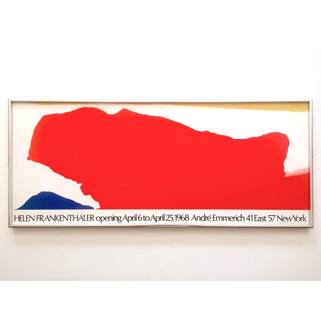 Helen Frankenthaler Rare 1974 Mid Century Modern Abstract Expressionist Lithograph Print Framed Exhibition Poster For Sale - Image 13 of 13