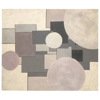Shades Of Pink And Grey Geometric Shape Acrylic Painting By George Mullen For Sale