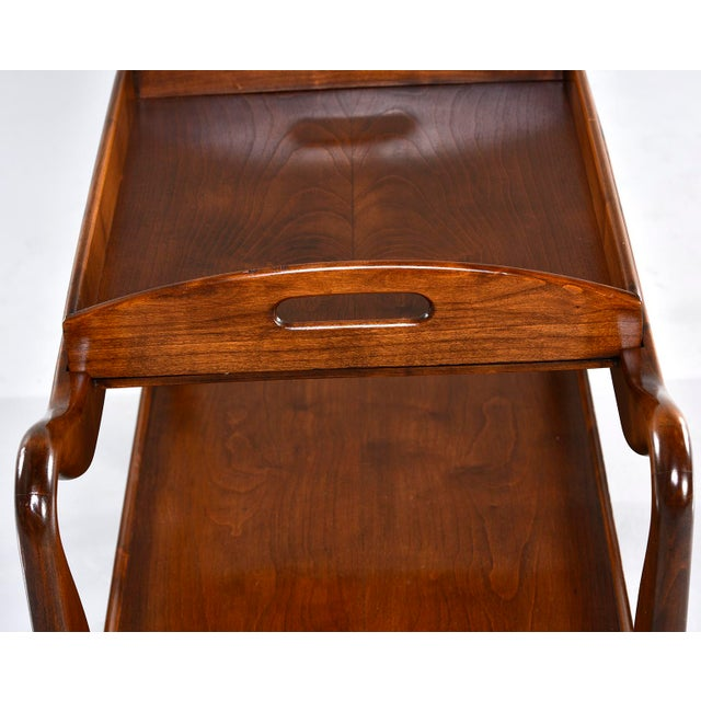 Mid-Century Italian Walnut Trolley With Removable Tray For Sale - Image 9 of 13