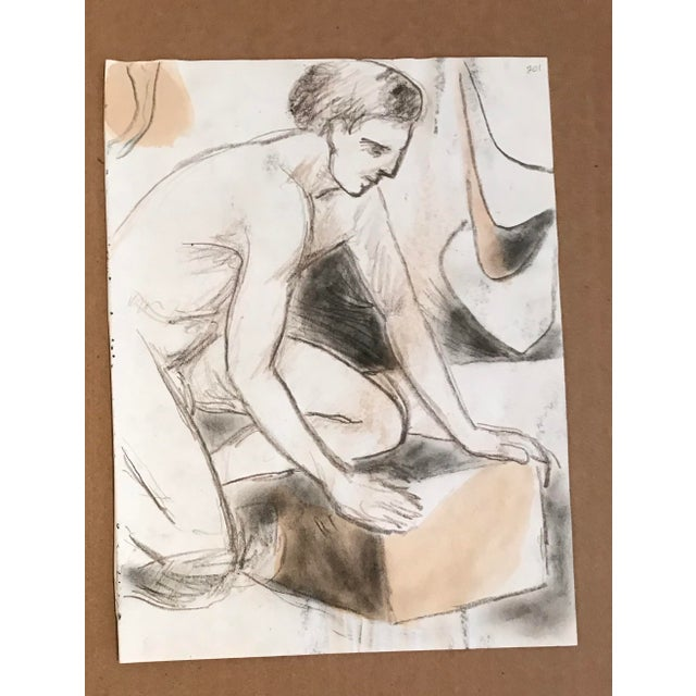 Figurative Vintage Double Sided Male Nude For Sale - Image 3 of 3
