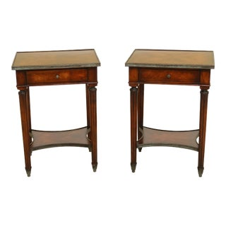 Theodore Alexander French Louis XVI Style Mahogany Nightstands - a Pair For Sale