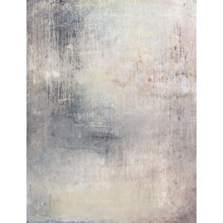 """""""1198 Abstract Beige/Silber Wall"""" Abstract Painting For Sale"""