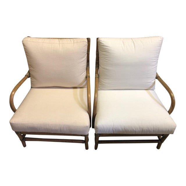 Contemporary Selamat Designs Tan Ava Lounge Chairs - A Pair For Sale