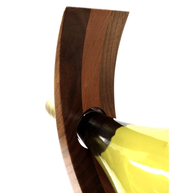 Curved Wood Floating Wine Bottle Holder - Image 9 of 9