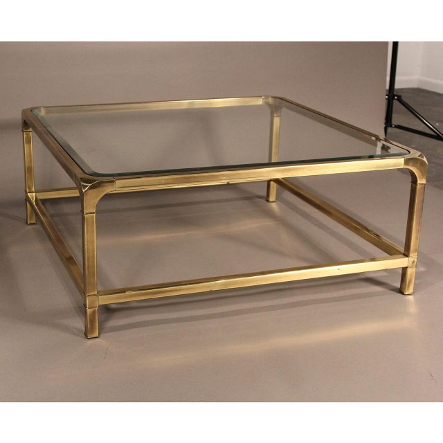 Mastercraft Brass and Glass Coffee Table - Image 5 of 10