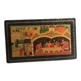 Image of 1972 Mstera Russian Lacquer Papier Mache Box For Sale