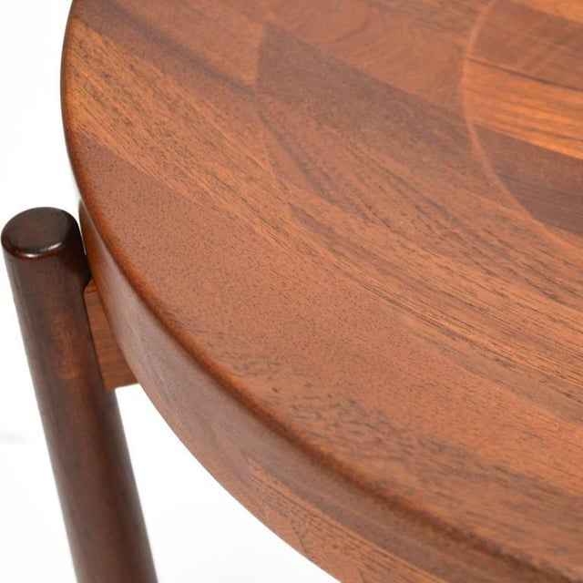 Brown Swedish Solid Teak Flip-Top Tables in the Manner of Jens Quistgaard For Sale - Image 8 of 11