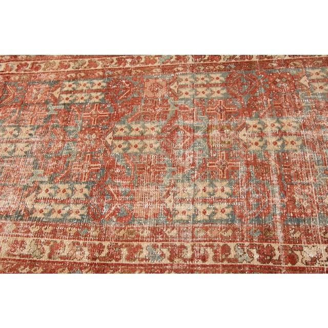 "Textile Apadana-Antique Persian Distressed Rug, 3'4"" X 13'7"" For Sale - Image 7 of 11"