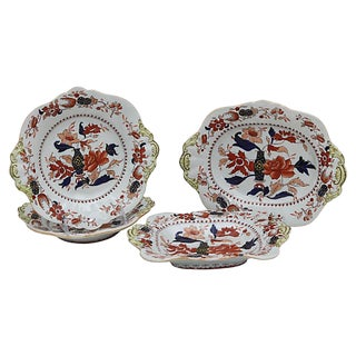 Antique Mason's Ironstone Serving Set For Sale