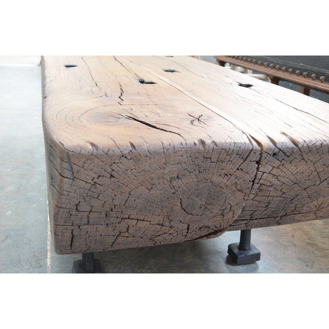 Oz|shop Antique Oak Corbel Coffee Table For Sale - Image 4 of 7