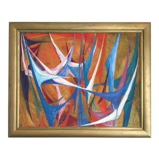 Gold Framed Colorful Abstract Painting