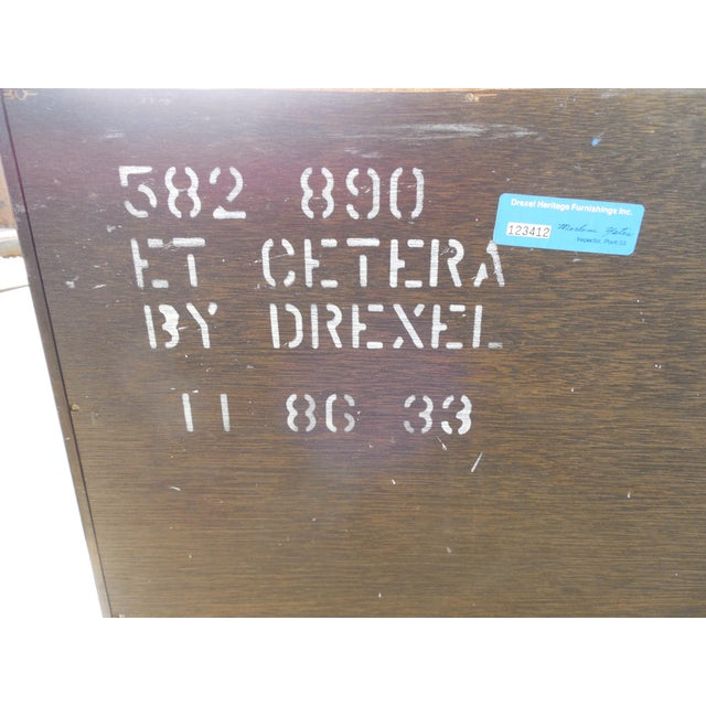 Et Cetera 2 Door Console & Matching Mirror Features 2 Doors with interior Shelf, Chinoiserie Decorated Very Good -...