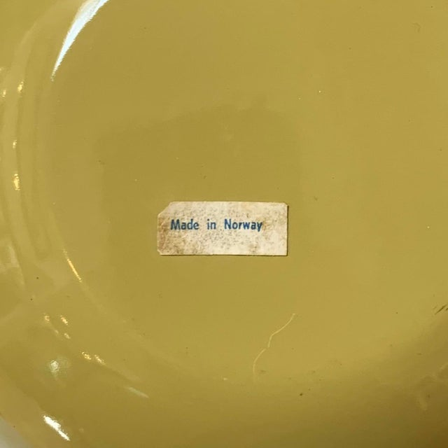 Green Mid-Century Grete Prytz Kittelsen for Cathrineholm Scandinavian Enamel Lotus Fondue Set For Sale - Image 8 of 9