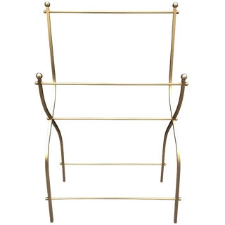 1960s Charles Hollis Jones Towel Rack for Lucille Ball in Solid Brass For Sale