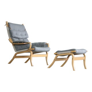 Dux Pernilla Chair and Ottoman - a Pair For Sale
